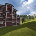 School at Dhading. The client was influenced by the architecture of Kathmandu valley so wanted a blend of traditional and modern style.