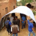 Constructing Temporary Shelters for Earthquake Victims at kavre District of Nepal
